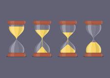 Transparent sandglass icon set Royalty Free Stock Image