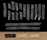 Transparent scotch tape on black background Stock Photography
