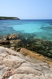 The transparent sea of Bonifacio, Corsica, France Stock Photography