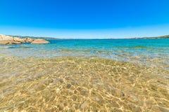 Transparent sea in Cala dei Ginepri Stock Photo