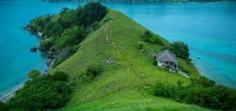 Island Seraya from the top Royalty Free Stock Photos