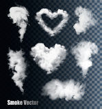 Transparent set of cloud vectors. Illustration Royalty Free Stock Photos
