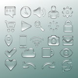 Transparent set. Transparent glossy  icon set, vector illustration Stock Photo