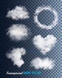 Transparent set of smoke vectors. Illustration Stock Photo