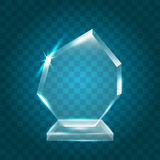 Transparent Shining Blank Vector Acrylic Crystal Glass Trophy Aw Royalty Free Stock Photography