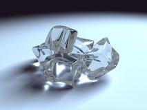 Transparent shiny ice cubes. 3d royalty free illustration