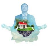 Transparent silhouette of businessman Royalty Free Stock Photos