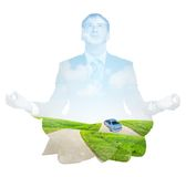 Transparent silhouette of businessman Royalty Free Stock Photo