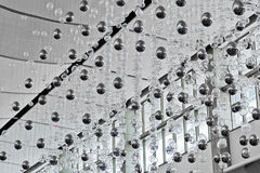 Transparent and silver glass balls Stock Photography