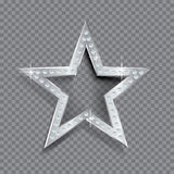 Transparent silver star Royalty Free Stock Images