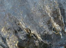Transparent silvery ice texture background royalty free stock image