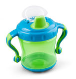 Transparent sip cup - nipple - pacifier botle for water or milk Stock Images