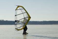 Transparent skate sail Stock Photo