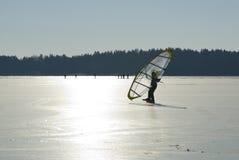 Transparent skate sail Stock Photos