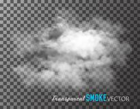 Transparent smoke vector. Stock Photography