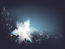 Transparent snowflake Stock Photography