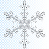 Transparent snowflake. Translucent only in vector file Stock Photos