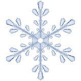 Transparent snowflake. Translucent only in vector file Royalty Free Stock Images
