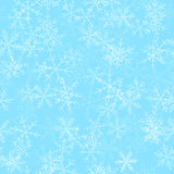 Transparent snowflakes seamless pattern on. Royalty Free Stock Photography