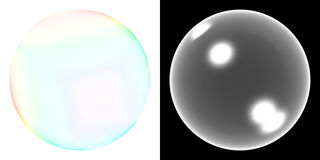 Transparent soap bubble. Soap bubble with opacity map. Hue-Saturation adjusments will produce diferent colors vector illustration