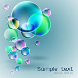 Transparent soap bubble on gray background Royalty Free Stock Images