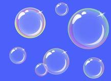 Transparent soap bubbles Stock Images
