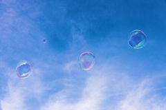 Transparent soap bubbles Royalty Free Stock Photography