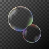 Transparent  soap bubbles Stock Photography