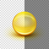 Transparent soft gel capsule. EPS 10 Royalty Free Stock Photography