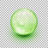 Transparent soft gel capsule. EPS 10 Stock Photography