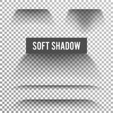 Transparent Soft Shadow Vector. Transparent And Gradient Effect With Soft Edge Isolated On Check Background. Stock Images