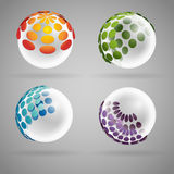 Transparent sphere Royalty Free Stock Photos
