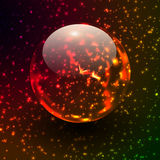 Transparent sphere on star field Royalty Free Stock Photography