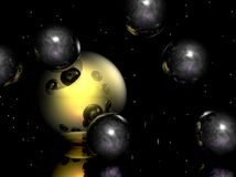 Transparent Spheres Royalty Free Stock Photography