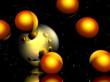 Transparent Spheres Stock Photo