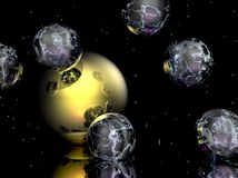 Transparent Spheres Royalty Free Stock Images