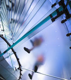 Transparent spiral glass staircase Stock Images