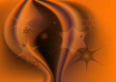 Transparent stars on the abstract brownish orange Royalty Free Stock Image