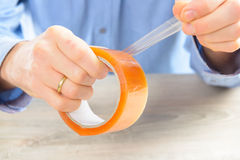 Transparent tape Royalty Free Stock Image