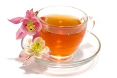 Transparent teacup Stock Photo