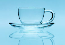 Transparent teacup Stock Image