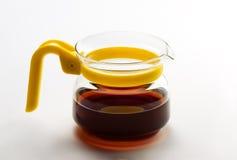 Transparent teapot royalty free stock photos