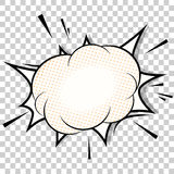 Transparent template. Boom comic book explosion Royalty Free Stock Photos