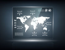 Transparent touch screen Stock Photo
