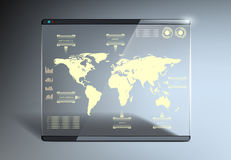 Transparent touch screen Royalty Free Stock Photo