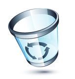 Transparent trash can Stock Photo