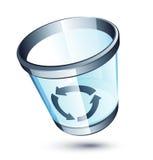 Transparent Trash Can Stock Photo