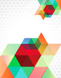 Transparent Triangles. Abstract retro design with triangles Royalty Free Stock Image
