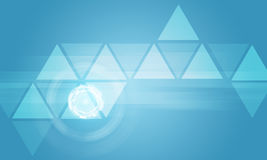 Transparent triangles with glow circles Stock Image
