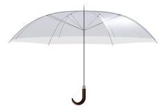 Transparent umbrella Stock Image
